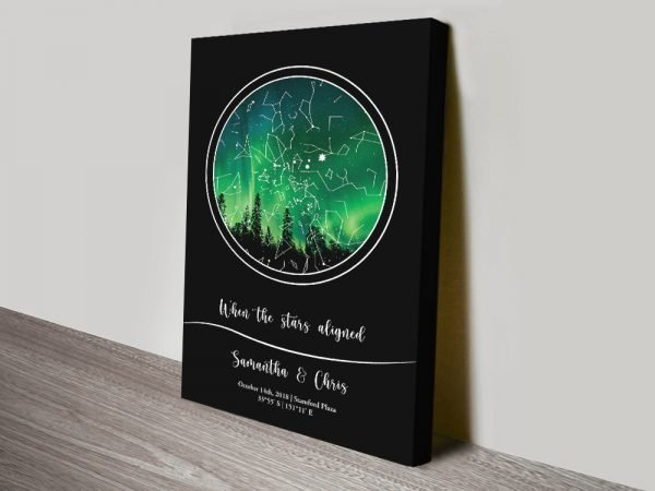 Star Maps in Various Colours Wedding Gift Ideas AU