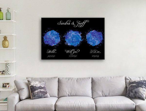 Romantic Star Maps Great Wedding Gifts AU